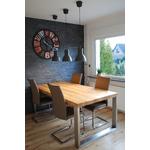 Kundenbild 2 Kufenesstisch Elva 6cm Eiche und polierte Edelstahlkufen