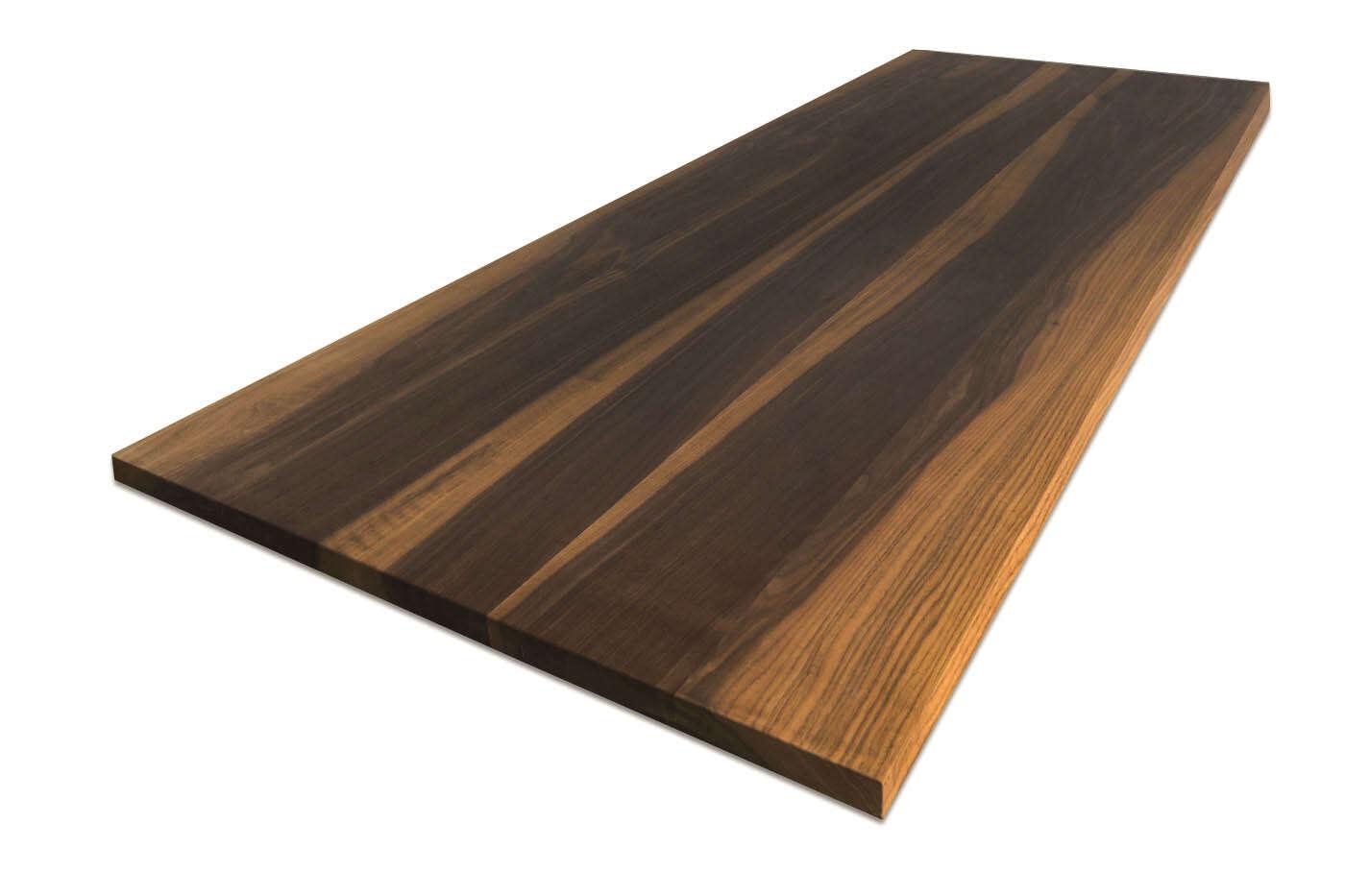 Tischplatte weiß nach maß  Tischplatte Nussbaum massiv nach Maß | ansehen
