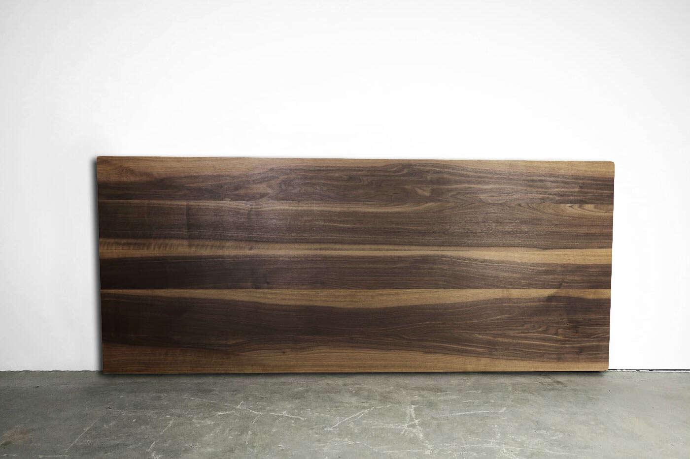 Massive Tischplatte Nussbaum Double-Up
