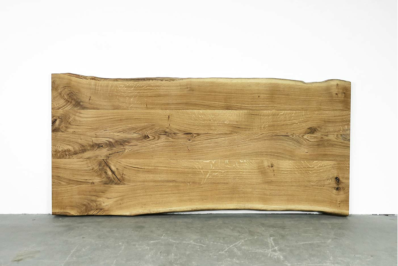 Eiche Tischplatte massiv mit Baumkante nach Maß
