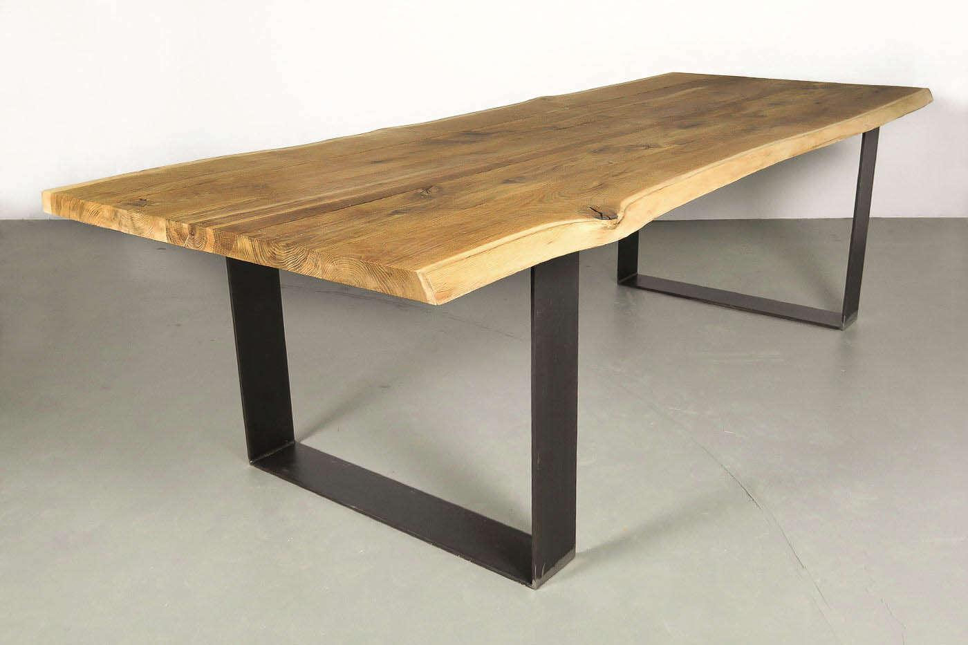 Kufen tischgestell stahl horten 15 wohnsektion for Holztisch eiche