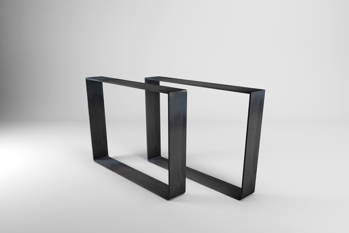 Tischgestell Stahlkufen Moss 15 Rohstahl