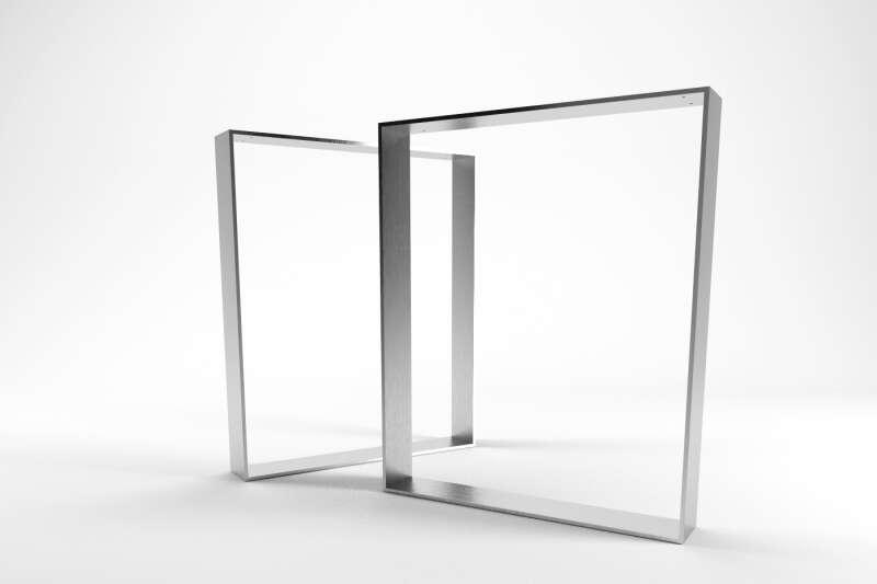 Flachband Tischgestell Horten 10 Edelstahl