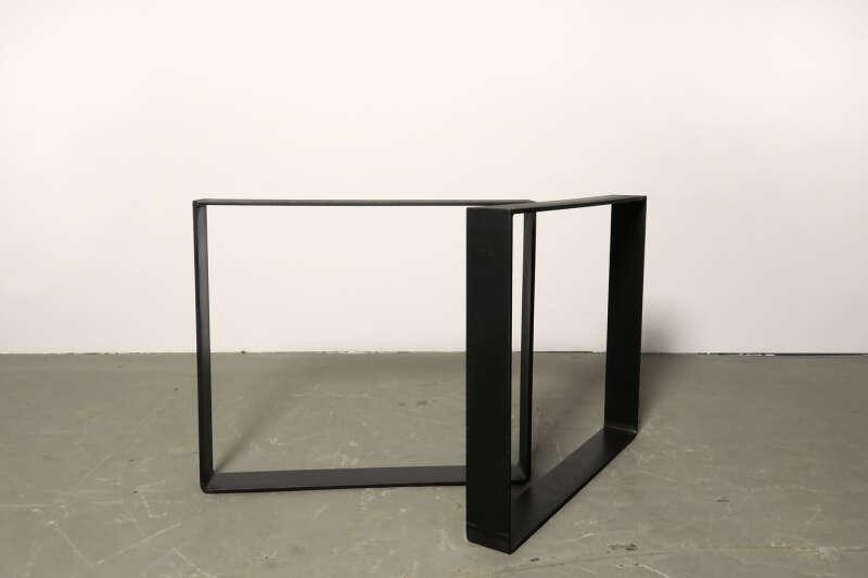 Tischkufen Stahl Moss 10 gerundet / curved