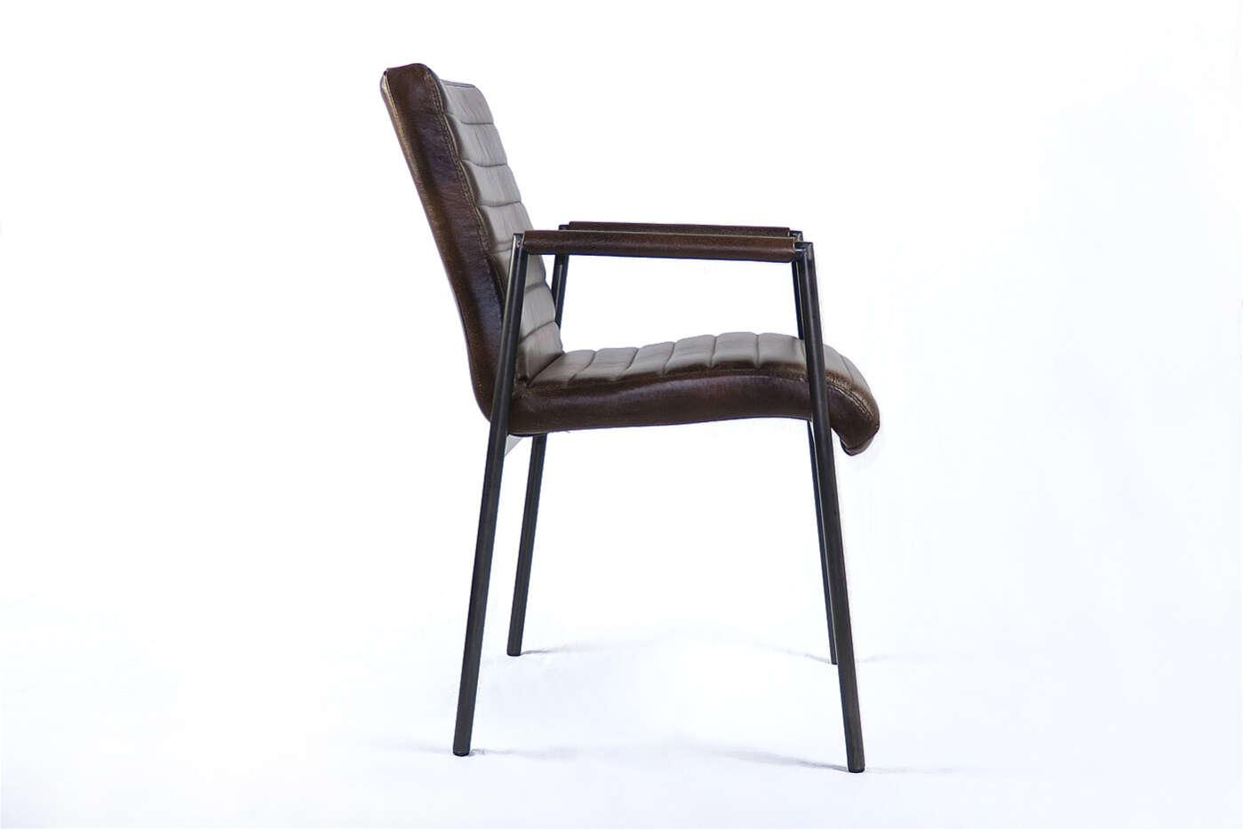 Echtleder stuhl esko im industriedesign for Stuhl industriedesign