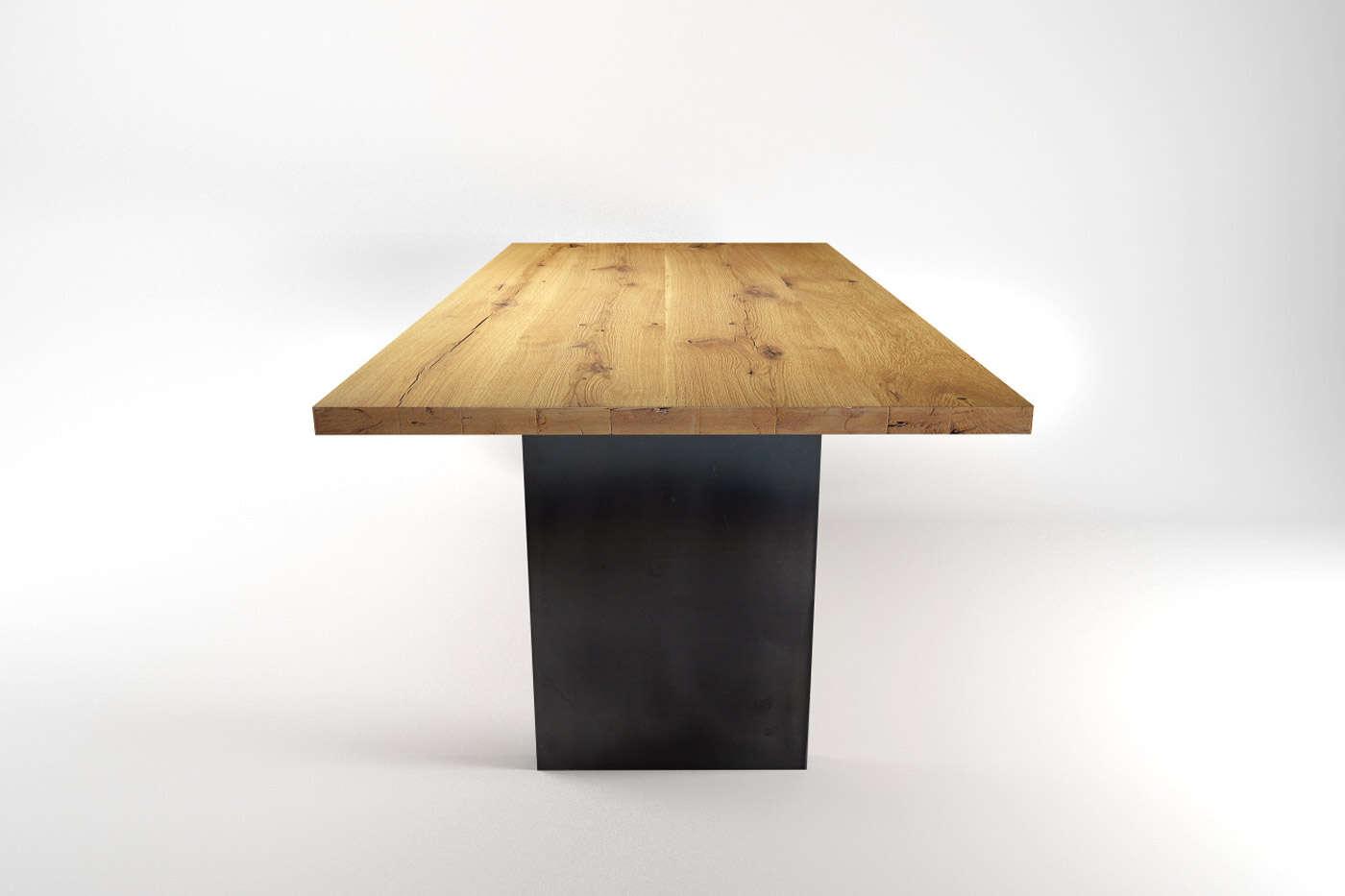 eiche esstisch tonder vollmassiv nach ma ansehen. Black Bedroom Furniture Sets. Home Design Ideas