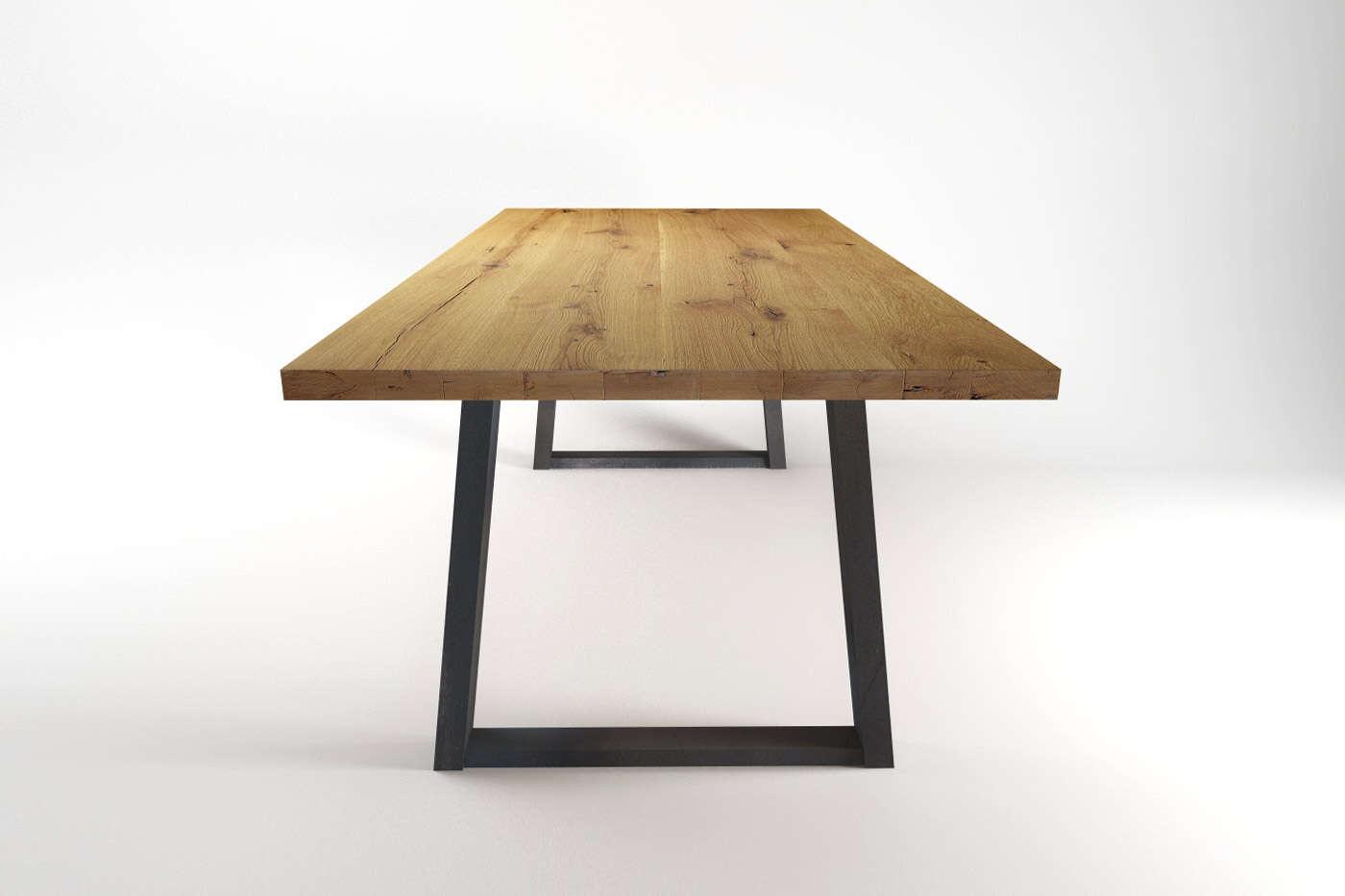 massivholz esstisch eiche larvik. Black Bedroom Furniture Sets. Home Design Ideas