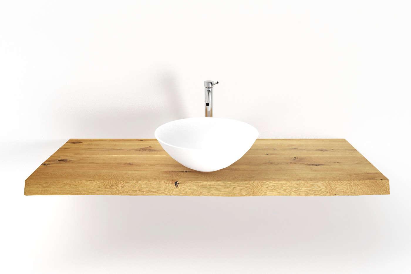 waschtisch eiche mit waldkante nach ma ansehen. Black Bedroom Furniture Sets. Home Design Ideas