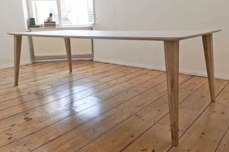 Tischbeine Holz Rund Konisch ~ Tischgestell nach Maß in Holz und Stahl  Wohnsektion