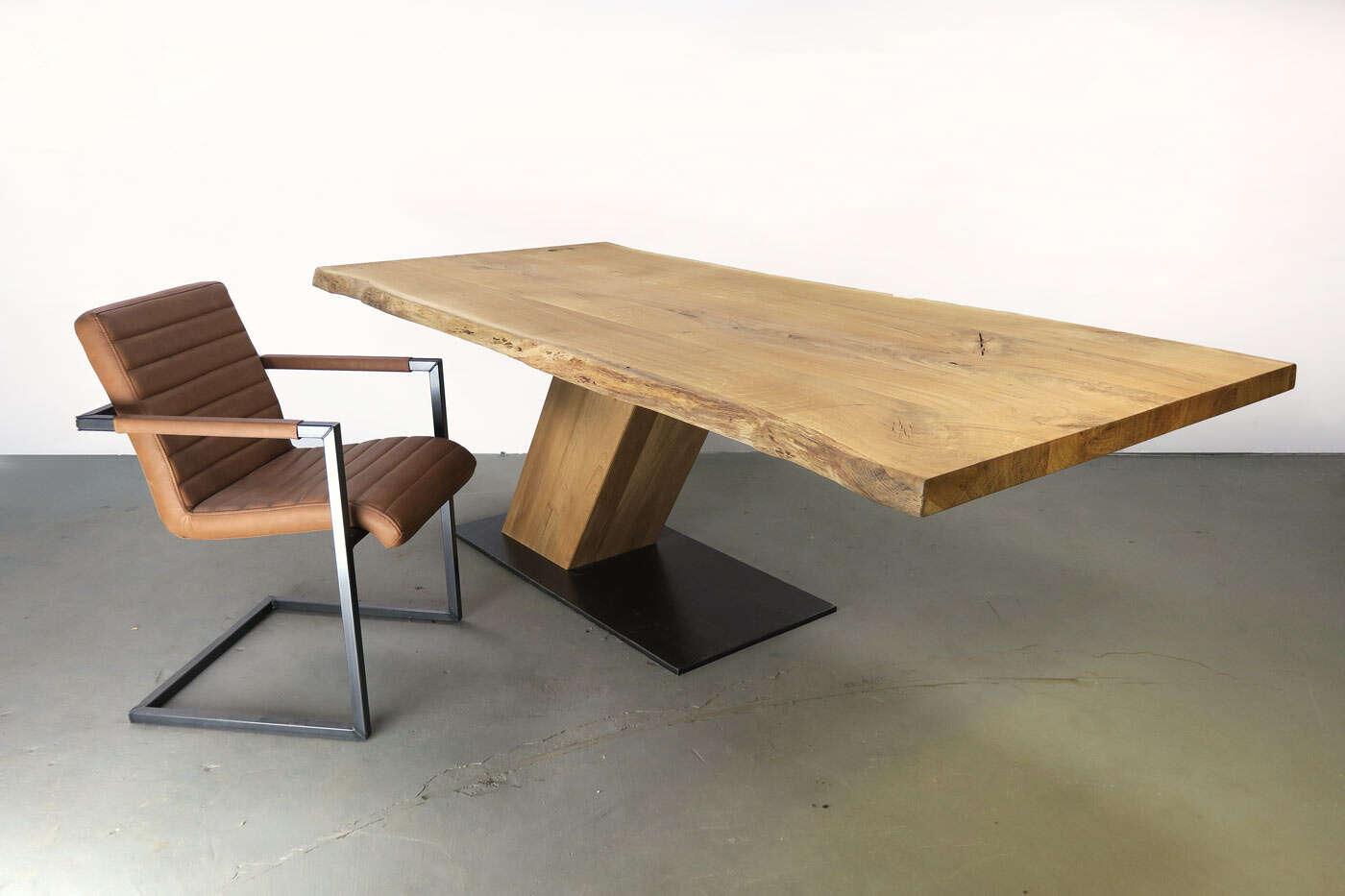 tisch mittelfu gestell nyborg eiche mittelfu gestell. Black Bedroom Furniture Sets. Home Design Ideas