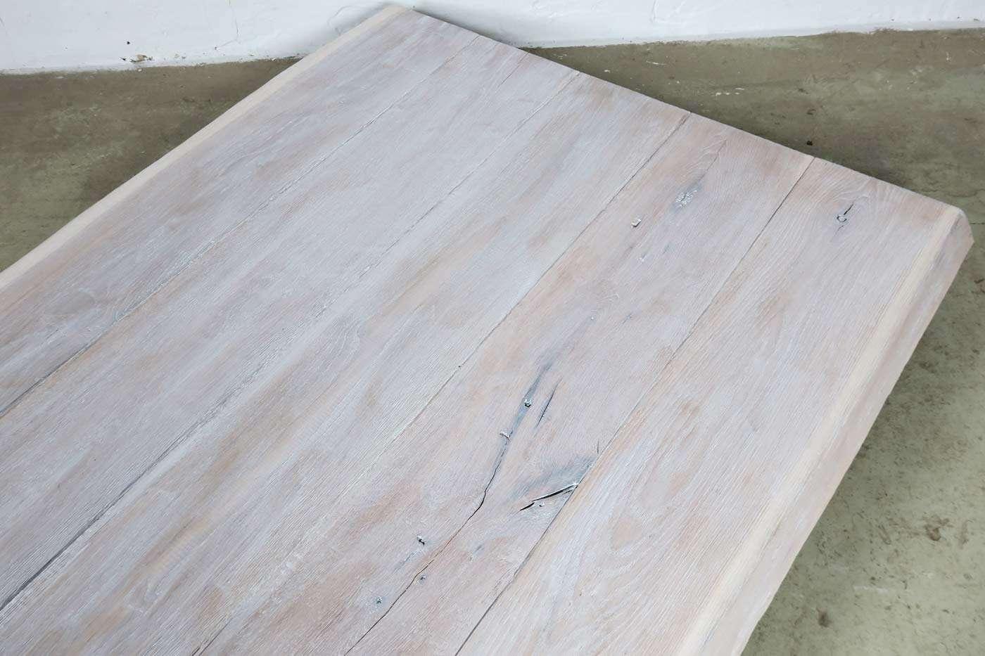 tischplatte eiche wei 202x108x5cm unikat 22111. Black Bedroom Furniture Sets. Home Design Ideas