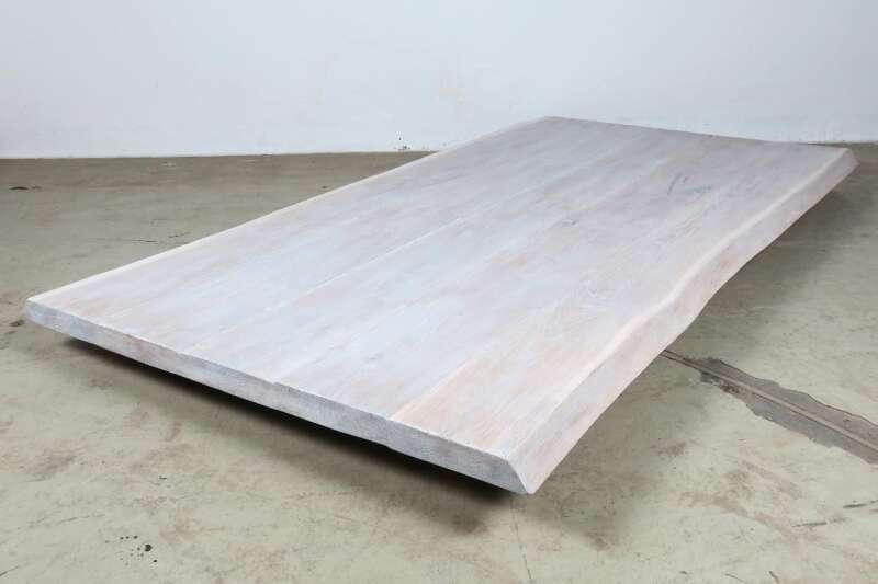 Tischplatte Eiche Weiss