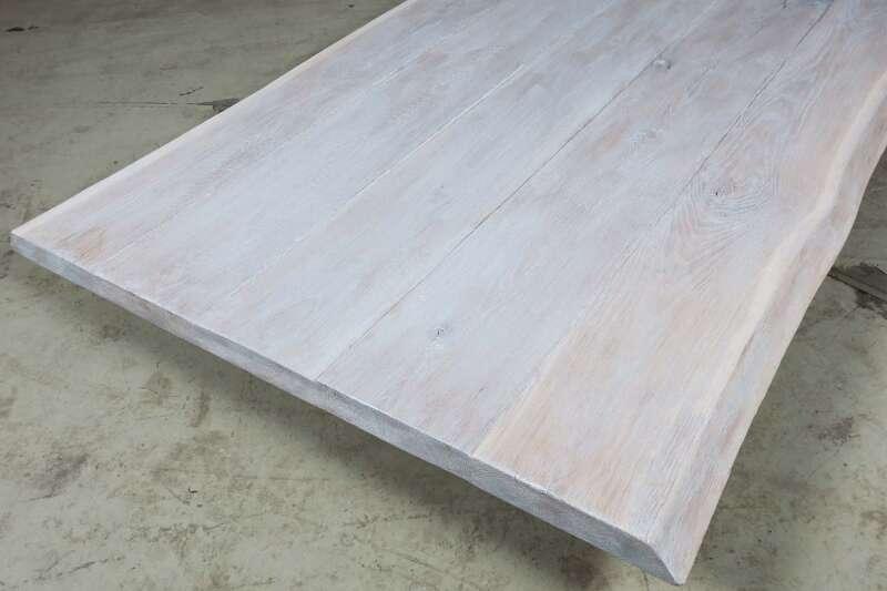 Tischplatte weiß  Tischplatte Eiche weiß 202x108x5cm Unikat 22111