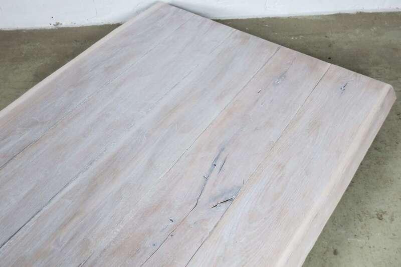 Tischplatte weiß nach maß  Tischplatte Eiche weiß 202x108x5cm Unikat 22111