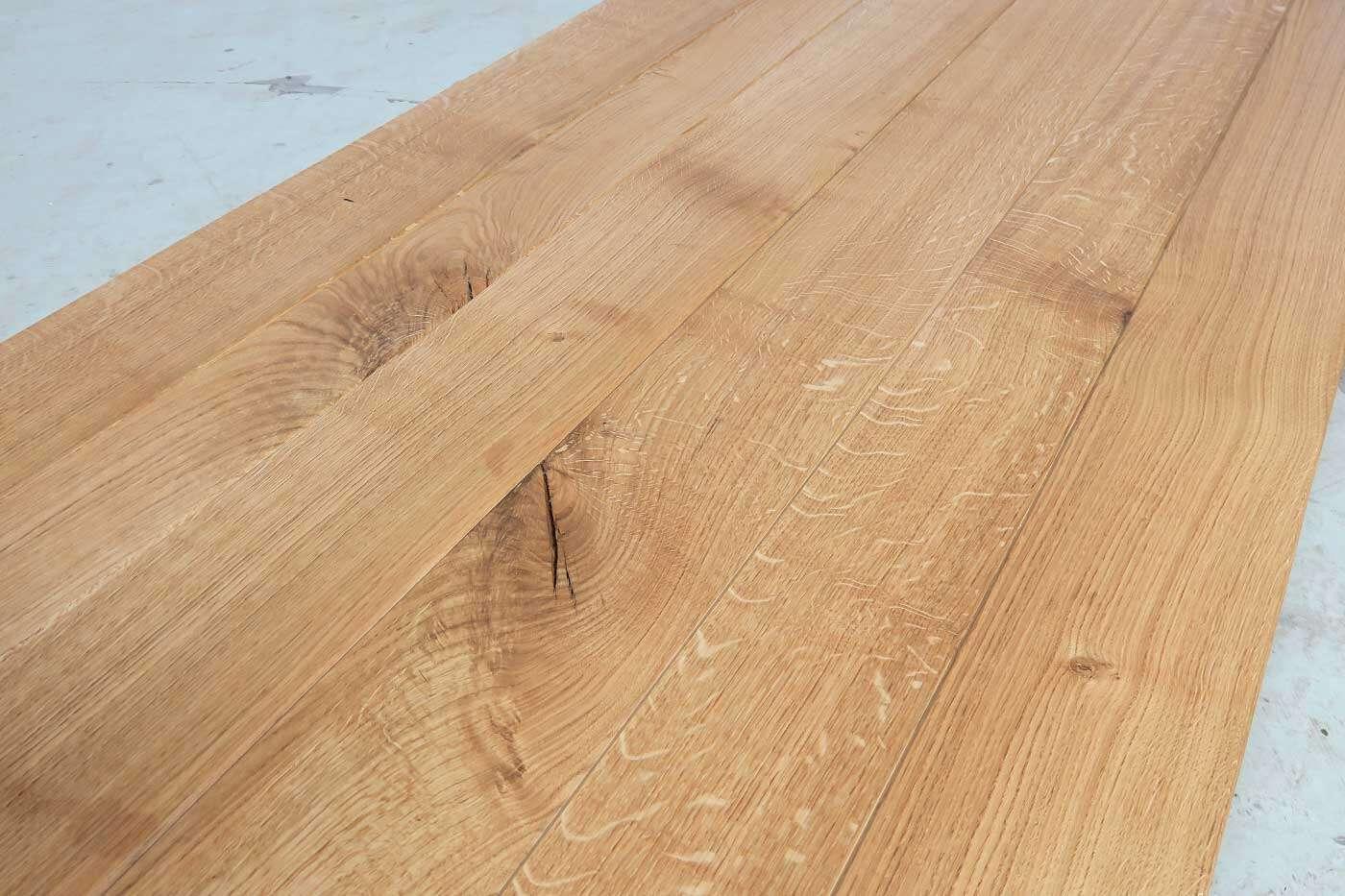 massivholz eiche tischplatte gezackt 245x90cm. Black Bedroom Furniture Sets. Home Design Ideas