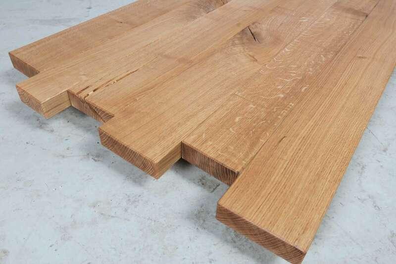 Tischplatte massivholz eiche  Massivholz Eiche Tischplatte gezackt 245x90cm