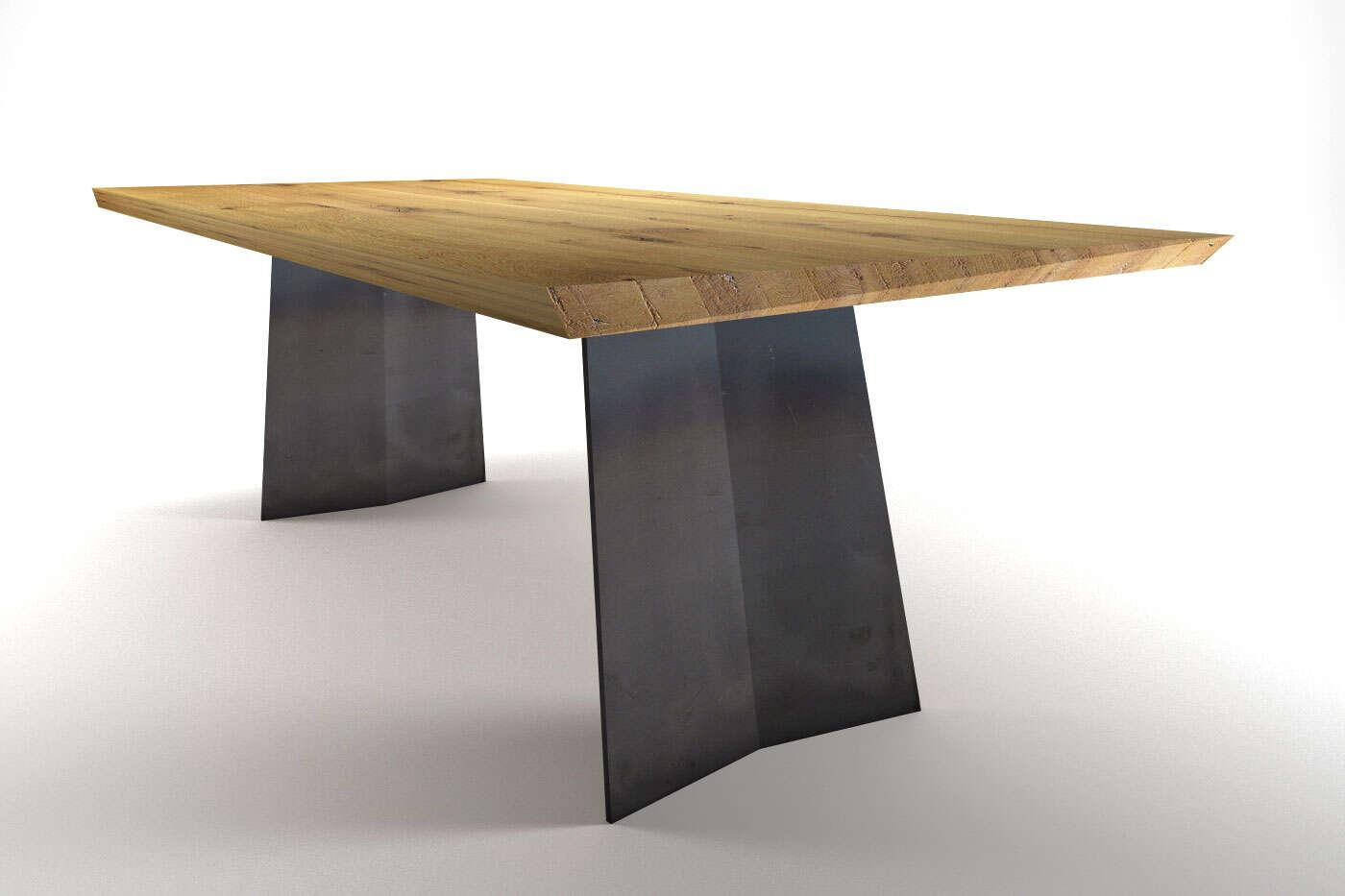 moderner konzept esstisch auf ma borg eiche. Black Bedroom Furniture Sets. Home Design Ideas