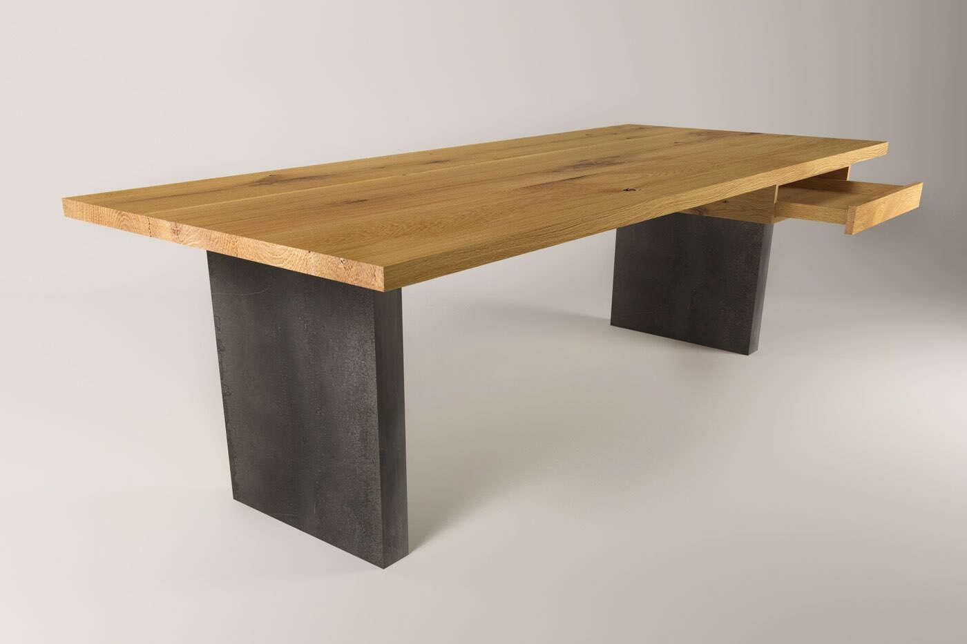 ... Schreibtisch Holz Massiv Selber Bauen ~ Massivholz Schreibtische Auf  Maß Wohnsektion ...