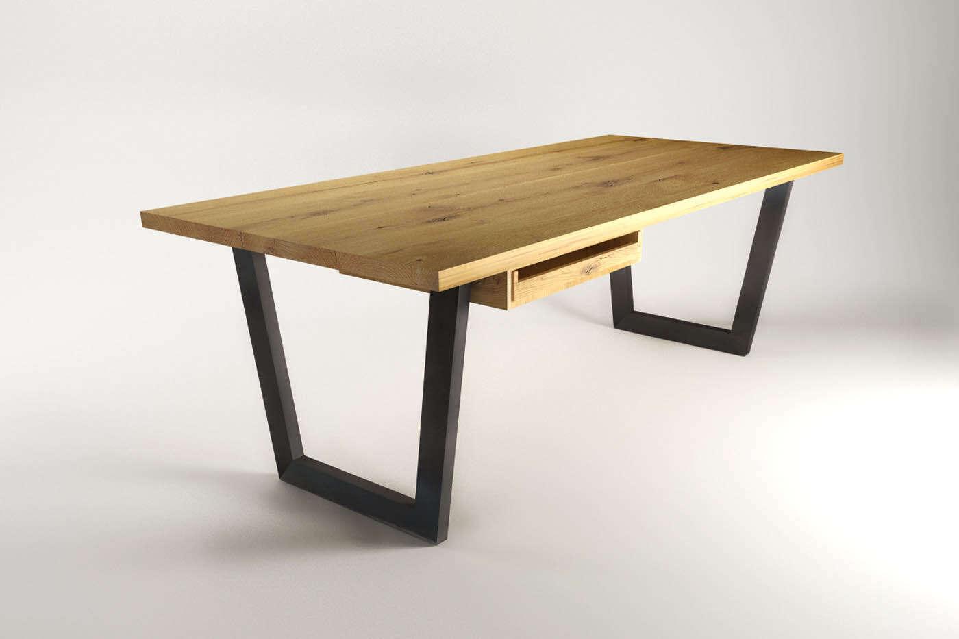 ulesta b rotisch eiche industriedesign. Black Bedroom Furniture Sets. Home Design Ideas