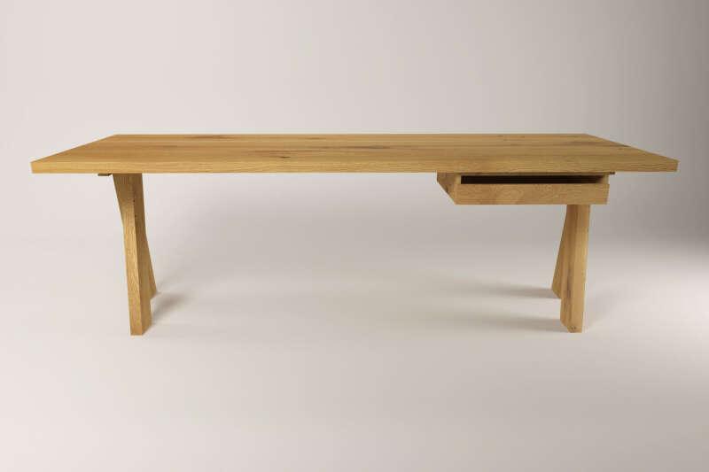 Schreibtisch holz massiv  Schreibtisch Holz Kulajan Eiche auf Maß