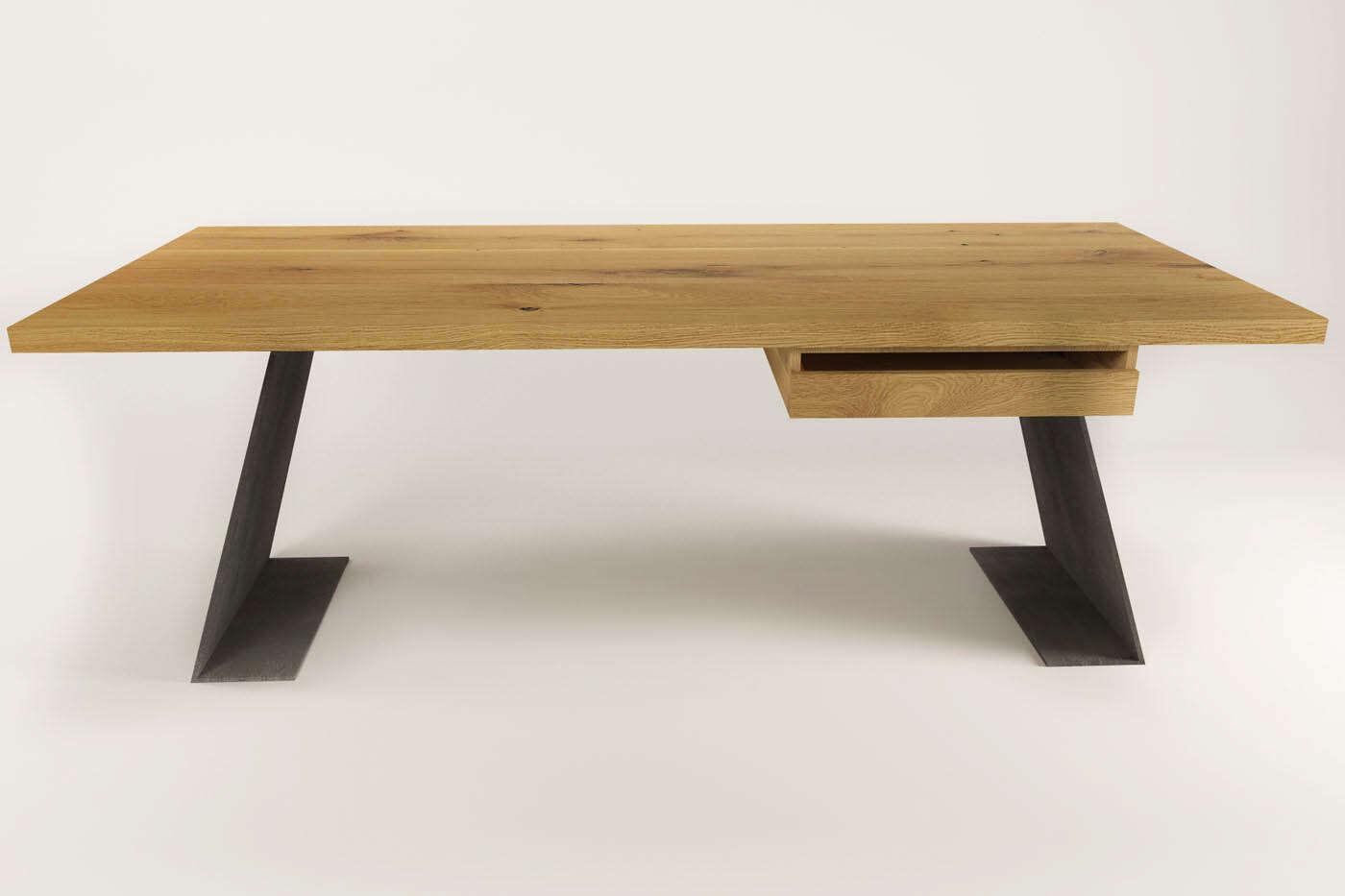 Schreibtisch modern farum eiche wohnsektion for Eiche schreibtisch