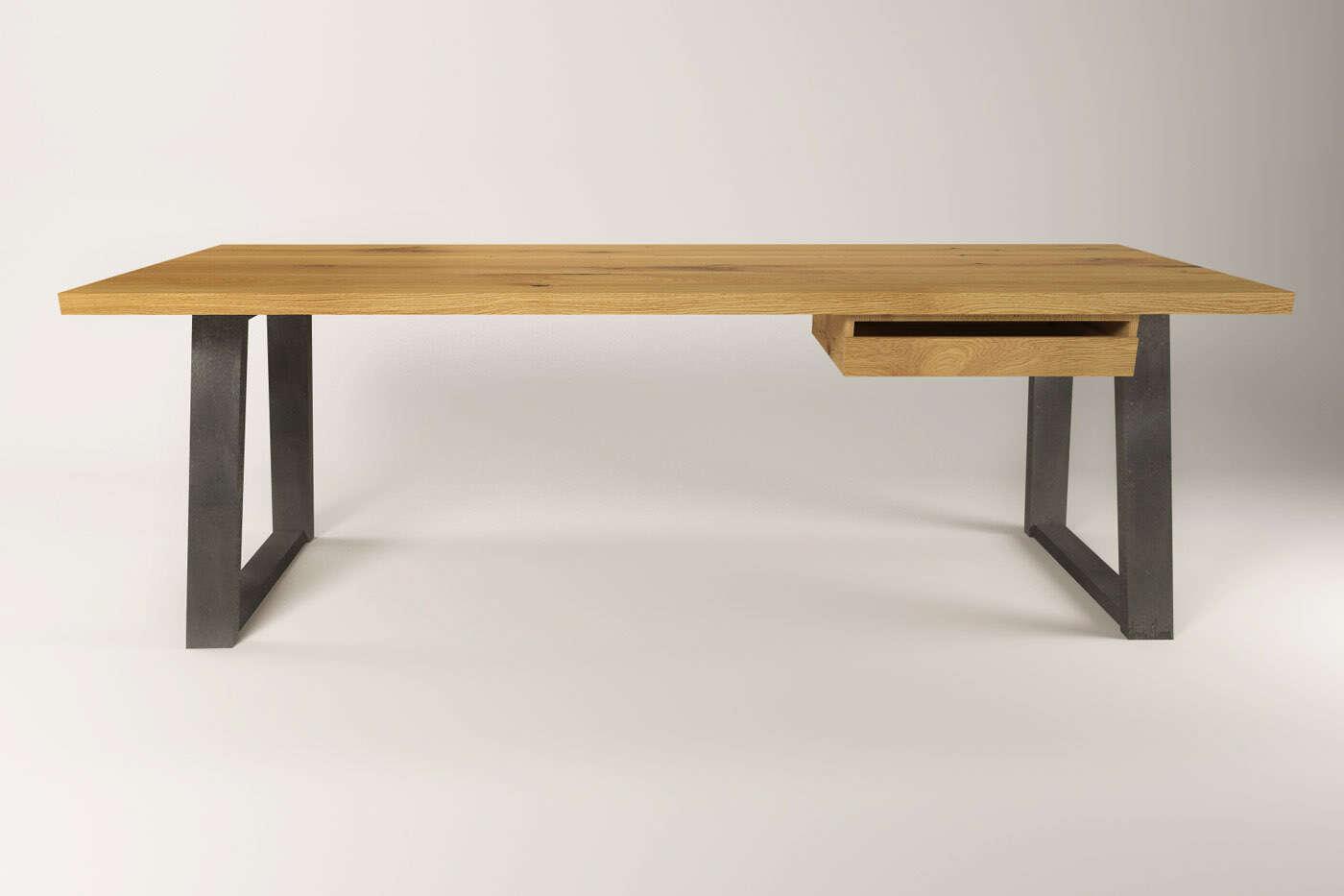 moderner schreibtisch massivholz eiche larvik. Black Bedroom Furniture Sets. Home Design Ideas