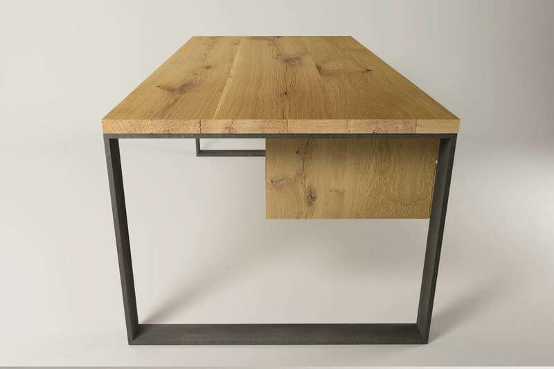 Schreibtisch industriedesign horten 10 for Schreibtisch massiv eiche