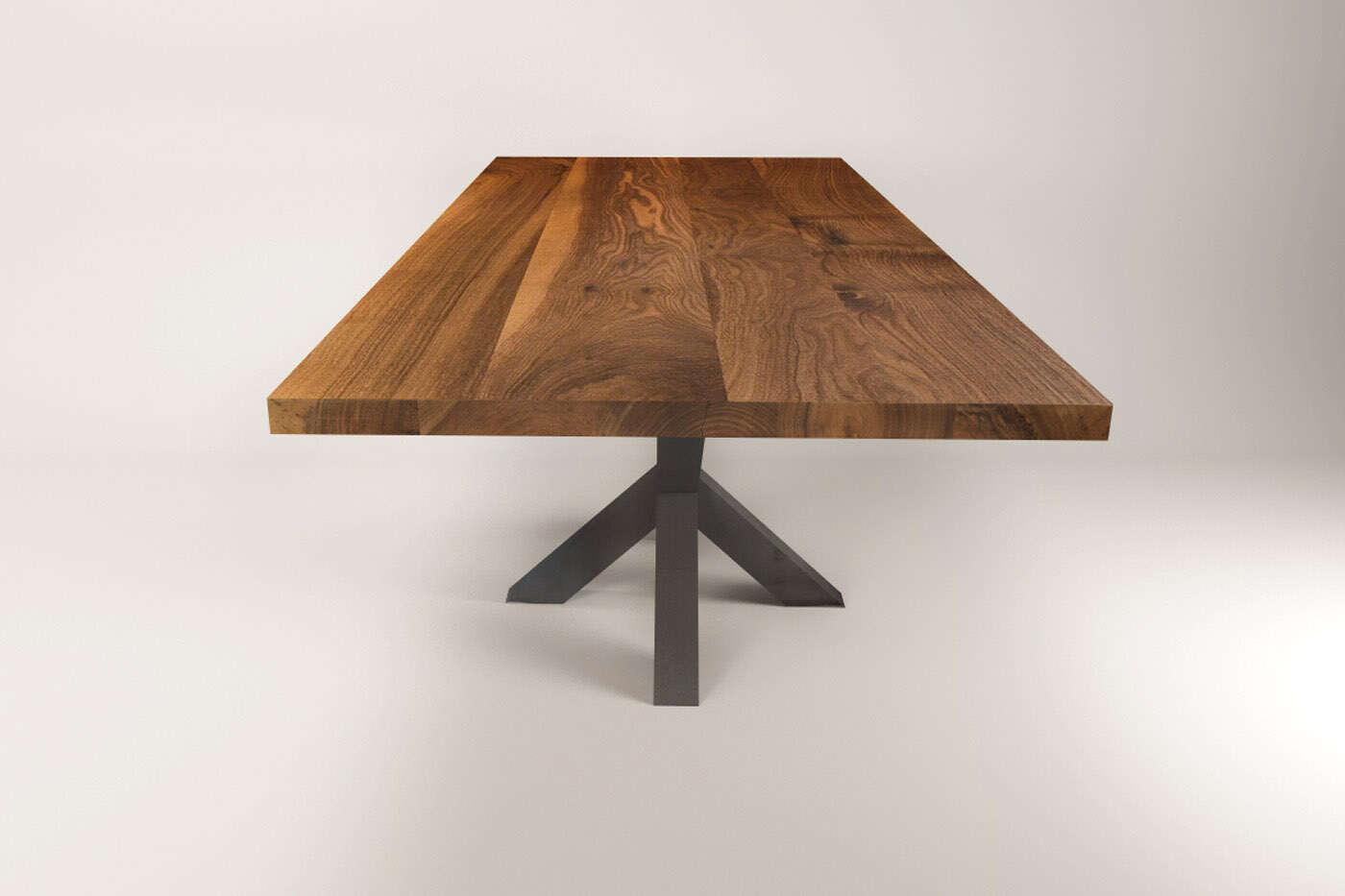 esstisch massiv nussbaum dalvik. Black Bedroom Furniture Sets. Home Design Ideas