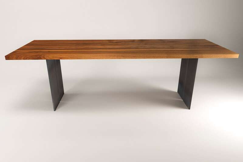 nussbaum massivholztisch raik industrial. Black Bedroom Furniture Sets. Home Design Ideas