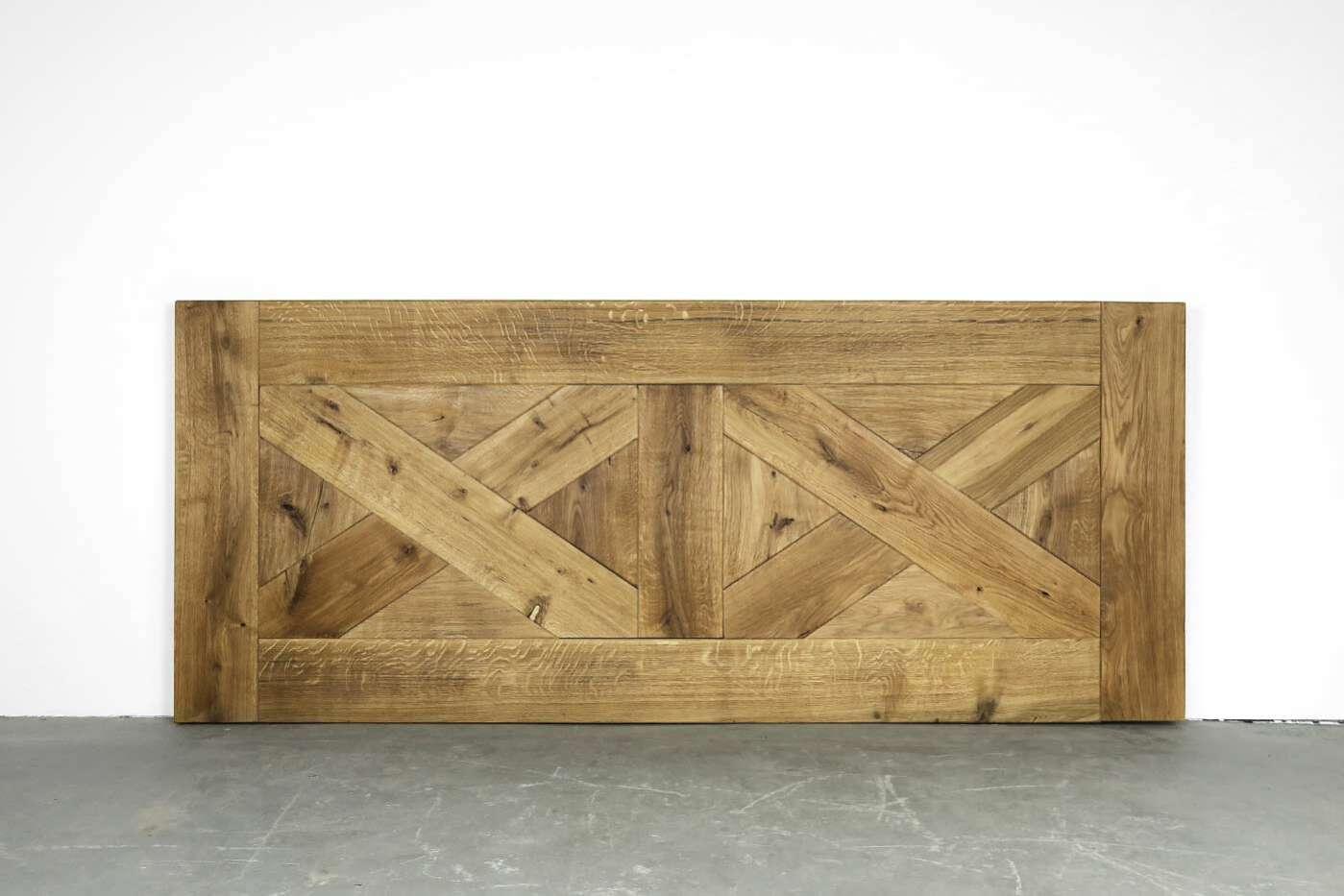 Eiche Tischplatte Kreuz-Muster 5cm