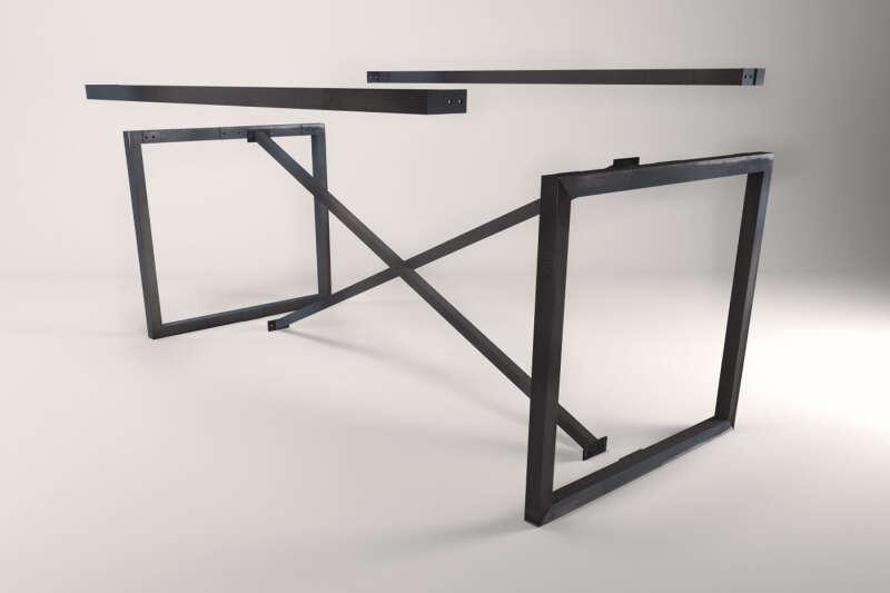 stahl tischuntergestell jasper nach ma wohnsektion. Black Bedroom Furniture Sets. Home Design Ideas