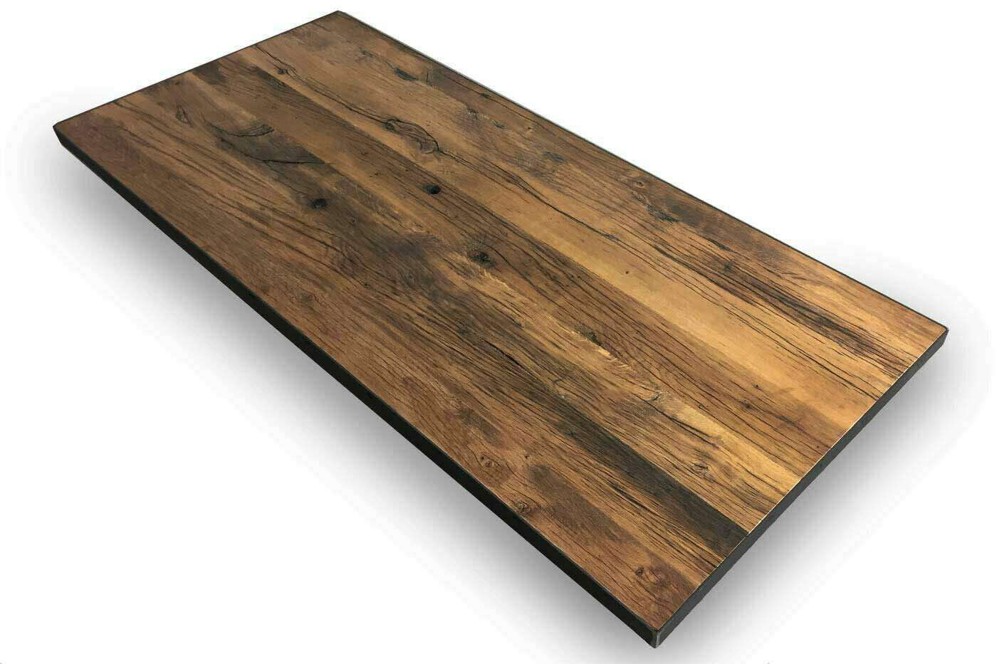 Tischplatte eiche altholz massiv auf ma wohnsektion for Designer tischplatten