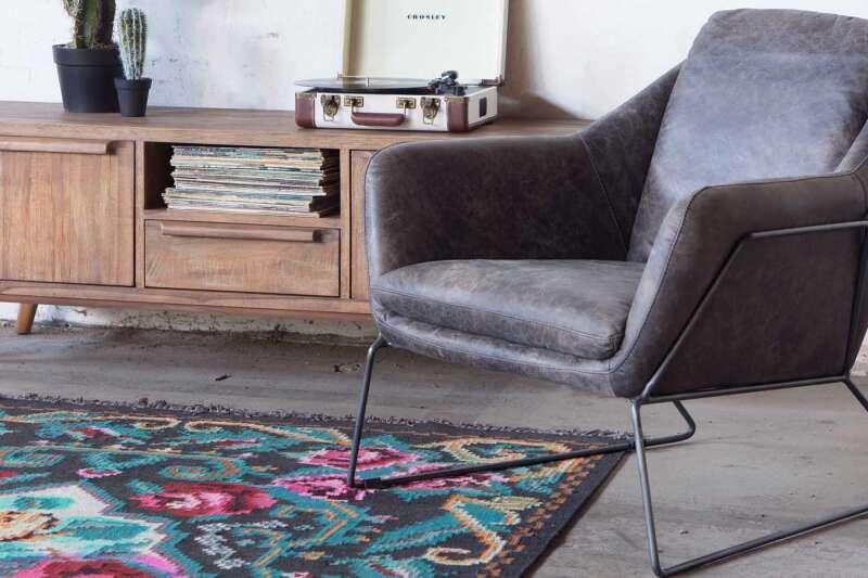 Celina Lounge Sessel modern Echtleder