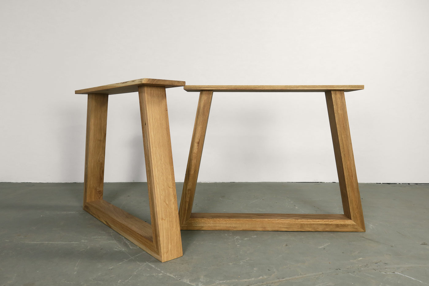 eiche tischgestell massiv kennet 2er set wohnsektion. Black Bedroom Furniture Sets. Home Design Ideas