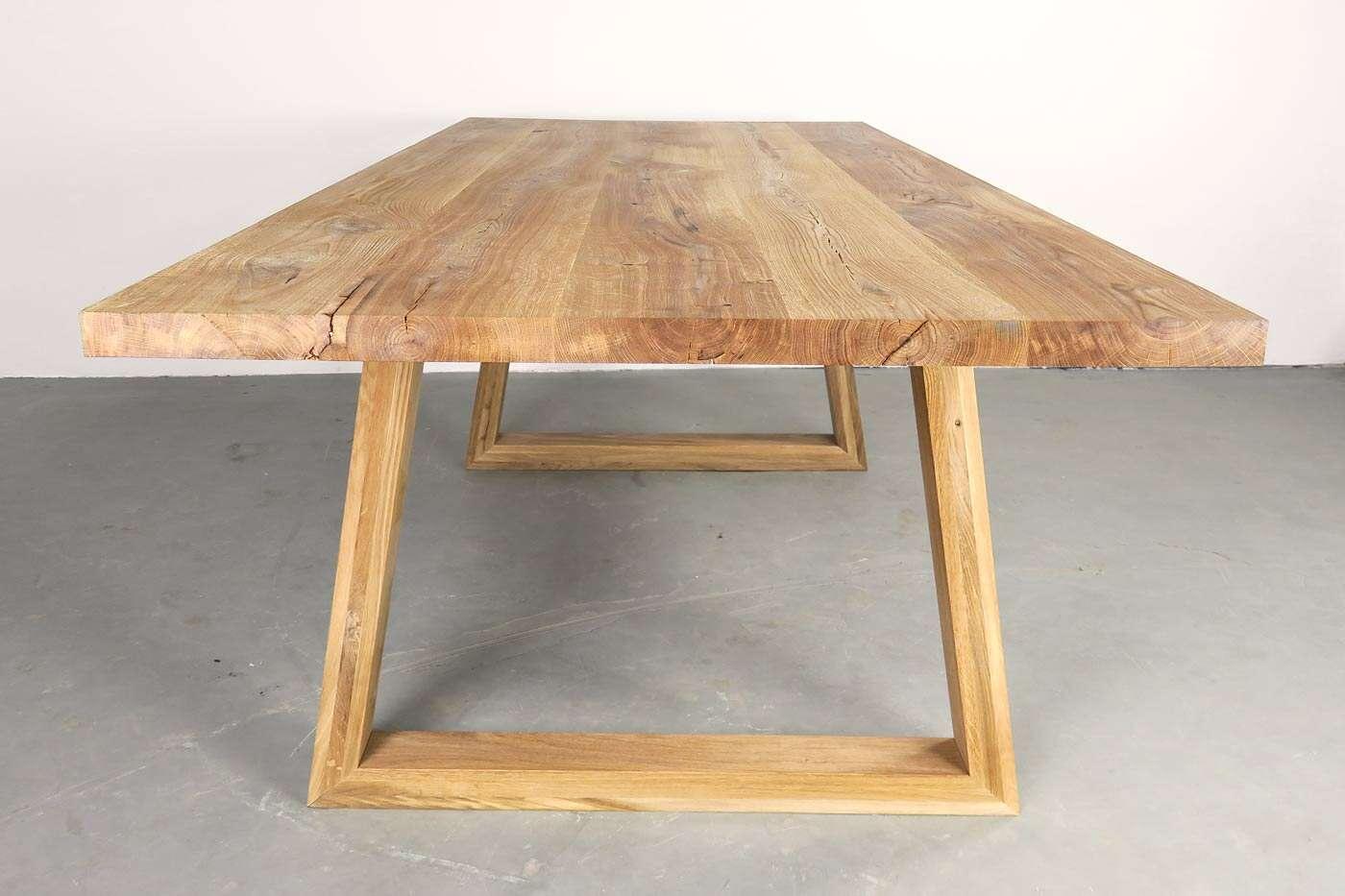 Eiche Tischgestell Massiv Kennet 2er Set Wohnsektion