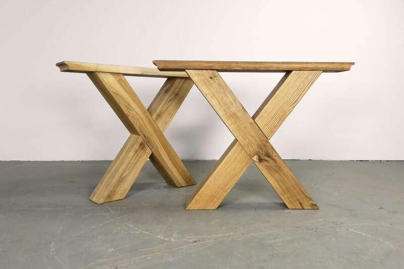 Eiche Tischgestell massiv Norik