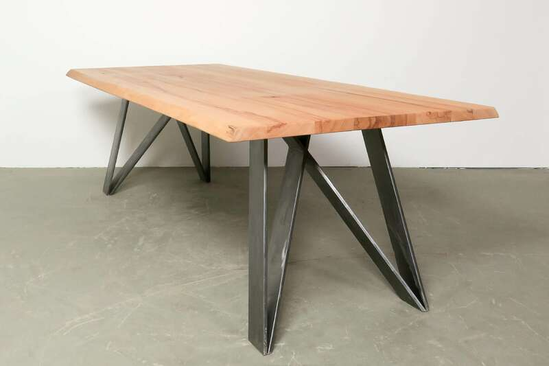 Tisch Massivholz Imatra Kernbuche mit Baumkante