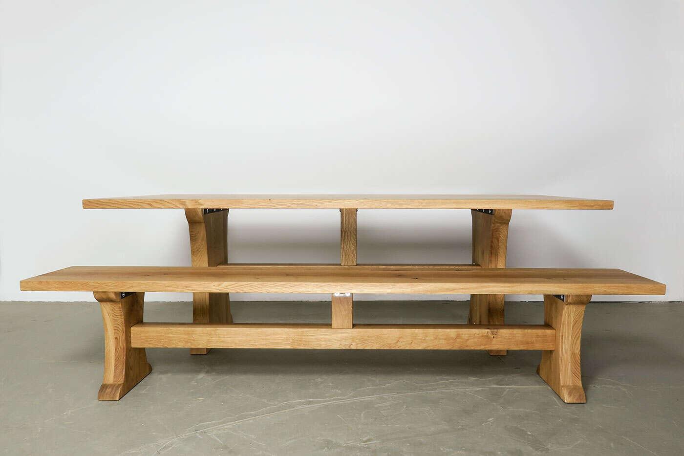 toskana sitzbank eiche massiv nach ma. Black Bedroom Furniture Sets. Home Design Ideas