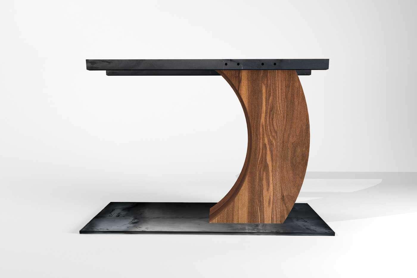 Ravid Nussbaum Tischuntergestell Mittelfuß
