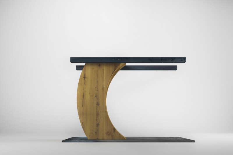 Ravid Eiche Tischgestell Mittelfuß