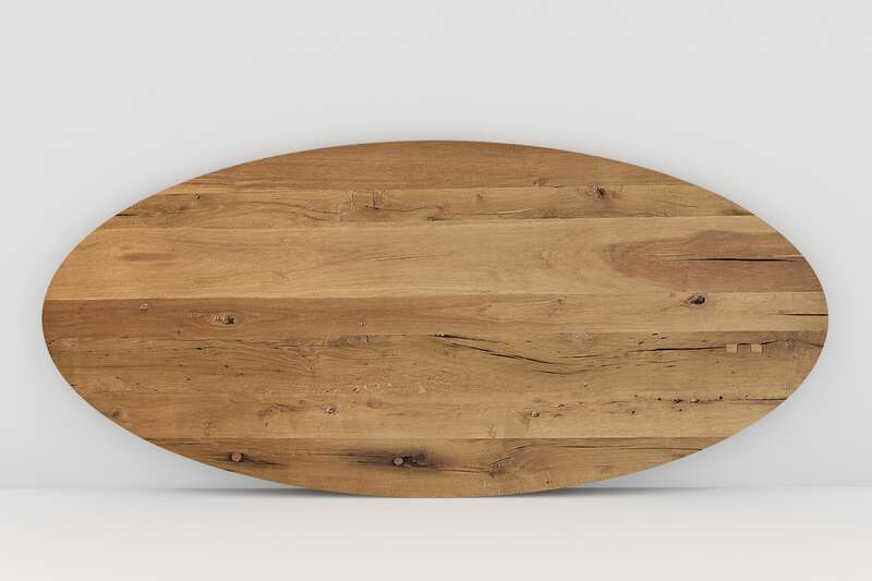 Tischplatte Eiche Altholz vollmassiv auf Maß