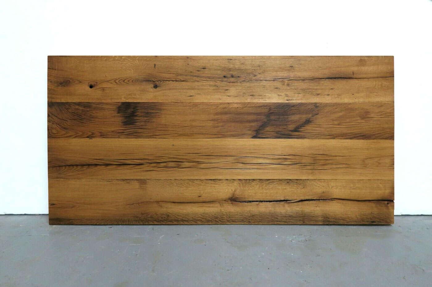 Alte Eiche Tischplatte auf Maß vollmassiv in 2-3 cm