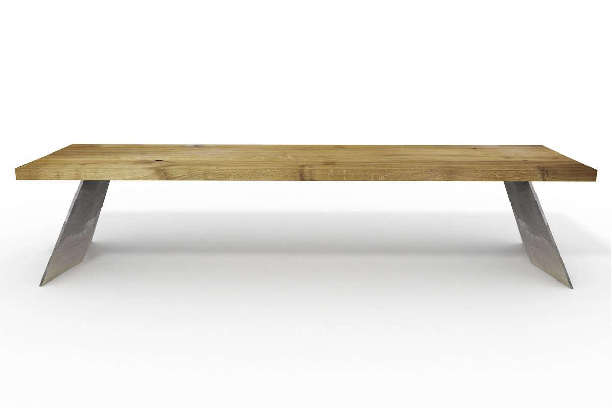Sitzbank Holz Eiche rustikal | Wohnsektion