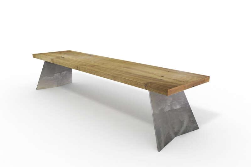 Sitzbank Holz Eiche Borg rustikal auf Maß