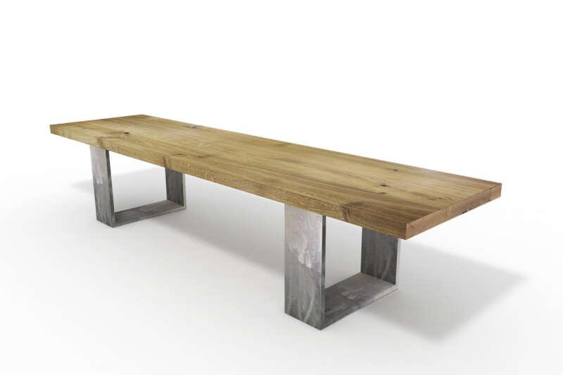 Horten 15 Sitzbank Holz nach Maß Eiche rustikal