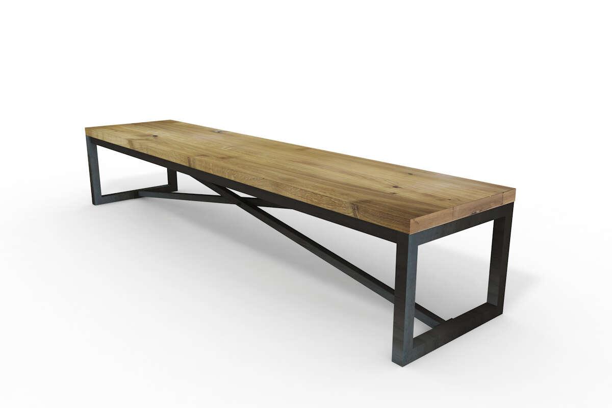 Sitzbank Eiche massiv Holz Jasper auf Maß