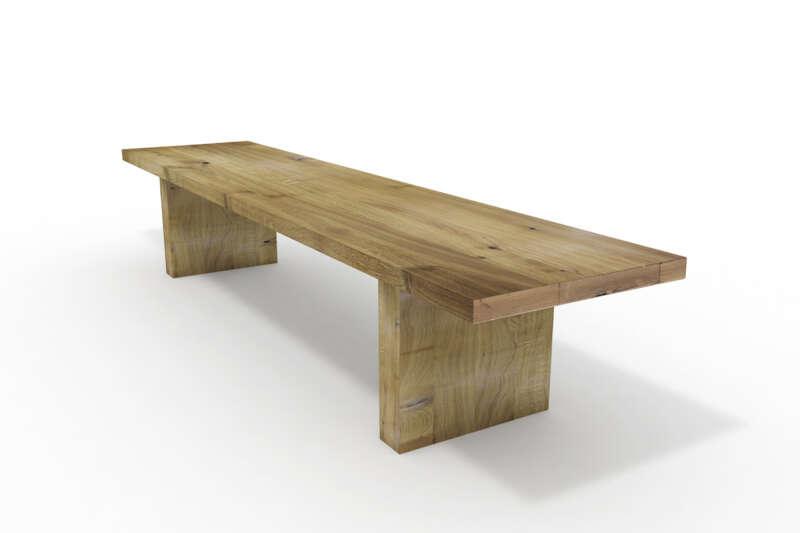 Holz Sitzbank Eiche hochkant Esszimmer Vibor