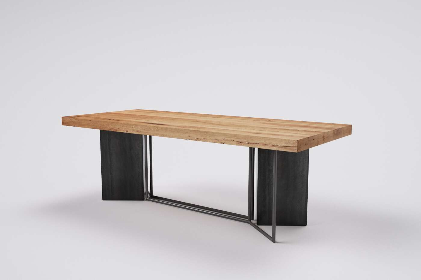 Holztisch massiv Torino altes Eichenholz