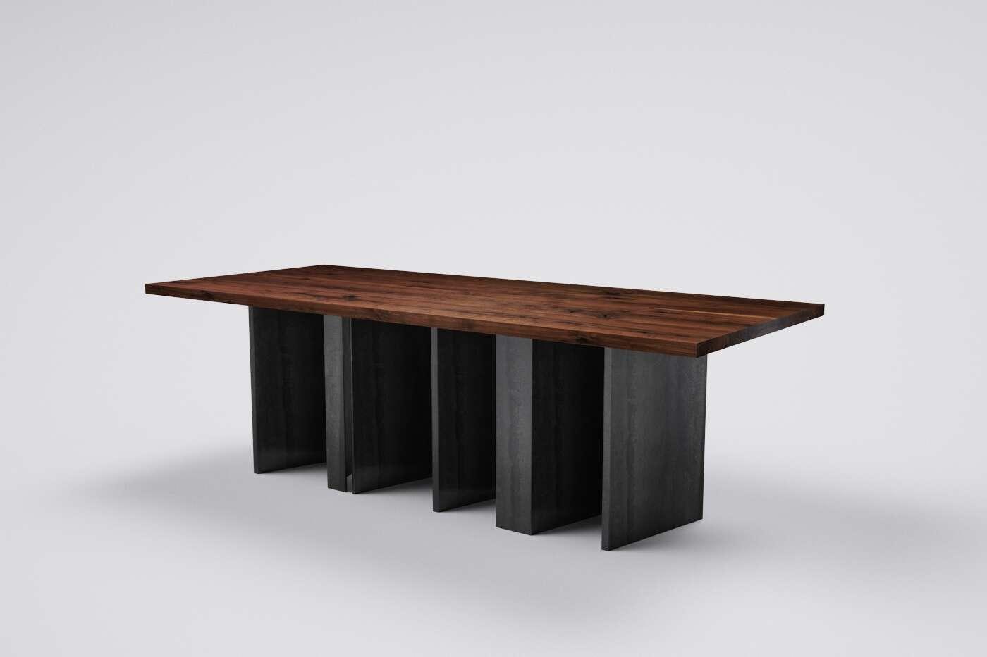 massivholztisch esstisch nussbaum auf ma wohnsektion. Black Bedroom Furniture Sets. Home Design Ideas