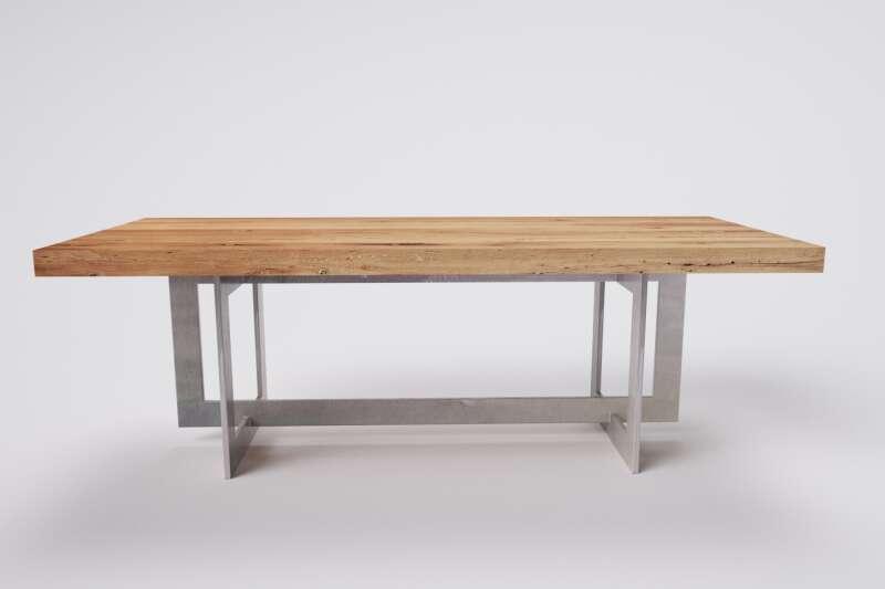 Holztisch massiv alte eiche nach mass wohnsektion for Holztisch nach mass